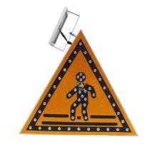 vehicle control solar led triangle traffic sign flashing