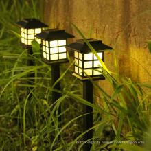 Lampe de prise de terre étanche extérieure pour pelouse solaire
