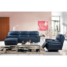 Canapé de salon avec canapé moderne en cuir véritable (454)