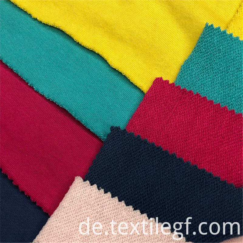 Soft CVC Terry Knitting Hoddies Fabric (4)