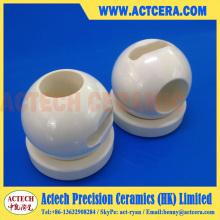 Asiento de bola y válvula de bola cerámica de zirconia