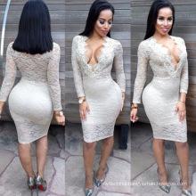 2018 wholesale best design selling lady fashion evening lace dresses women