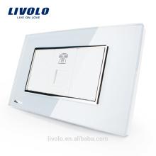 Livolo classic, США, стандарт 1 розетка, розетка для телефона, стеклянная розетка VL-C391T-81
