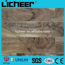8mm piso laminado / v sulco AC3 piso de madeira / alta qualidade HDF preço piso laminado