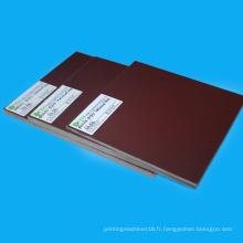 Feuille laminée de papier phénolique orange 3021 en plastique isolé