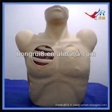 Mannequin de drainage pleural ISO, Pneumothorax Décompression, drainage thoracique