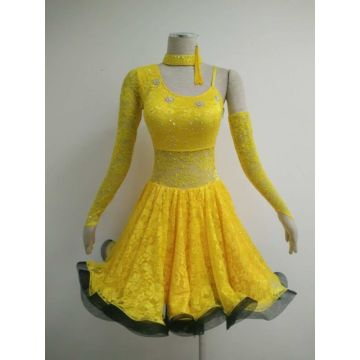 Costume latino giallo ballabile