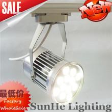 Guangdong Best Factory geführtes Schienenlicht mit UL u. SAA glattes Aluminiumlegierungsoberteil