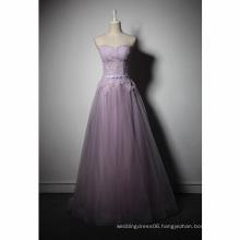 LSQ054 strapless natural waist with belt real evening dress with stones kaftans evening dress