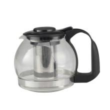 Pot de thé en verre avec filtre en acier inoxydable