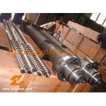 Kabra Extrusion PVC Paralelo Doble Tornillo y Barril