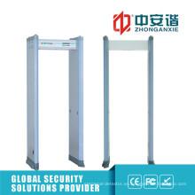 Detección de clips 18 zonas Detector de metales de marco de puerta con interruptor de fuente de alimentación