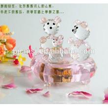 Розовый Кристалл Музыкальная Шкатулка Плюшевый Медведь Для Свадьба Пользу