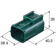 Stocked Sumitomo 6181-0511 6p Male Water Proof Auto Connector