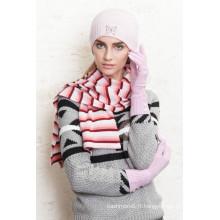 Chapeau tricoté long fil de plume de haute qualité