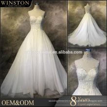 Новый дизайн на заказ свадебные платья с украшением