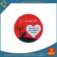 Emblema voluntário do botão do estanho no preço barato