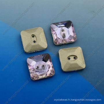 Carrés boutons fantaisie pierres