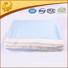Super Soft Two Tone Brushed Plain Organic Bamboo Blanket With Satin Piping