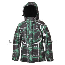 Kid′s Printed Hooded Padded Winter Skiing Jacket