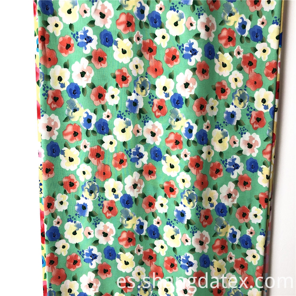 Small Flower Rayon Print