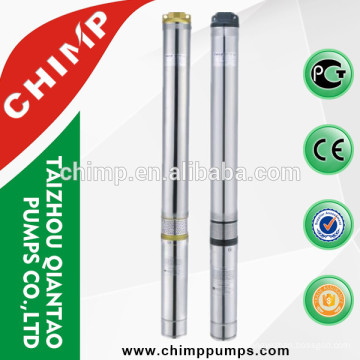 100QJD1205-1.1 agricultural irrigation single phase High performance brass/iron outlet deep well electric submersible pump