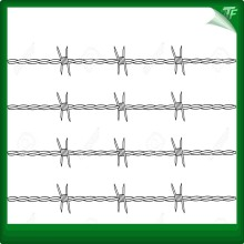 Galvanized straight line razor wire