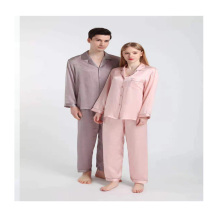 china branded 22 momme washable natural adult mens male long sleeve silk pajama pajamas for men