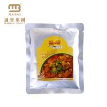 Three Side Seal Packaging Custom Printed Mylar Plastic Food Vacuum Sealed Bag