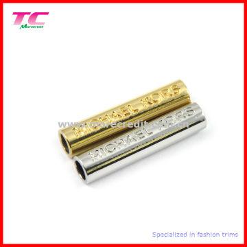 Zinc Alloy Cord End, Cylinder Shape Metal Piece