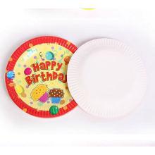 crianças Pratos lindos descartáveis Oval Round Paper Plates For Party