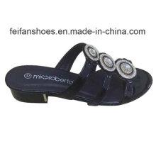 2016 Novo Estilo de Moda de Alta Qualidade Diamante Mulheres Sandálias Chinelo