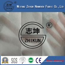 Tissu non-tissé blanc de SMS de couche-culotte de polypropylène