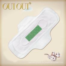 Weiblicher Nachtgebrauch der Geruchskontrolle Damenbinden mit grünem Anionchip