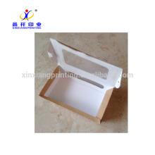 Personnaliser la boîte d'emballage de papier de couleur de Kraft pour les ailes rôties de restauration rapide