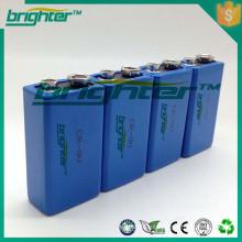 Bateria de lítio 9v não recarregável 1200mah ER9v