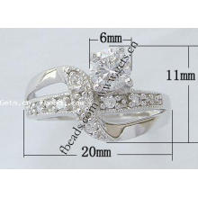2015 Gets.com 925 Sterling Silber Korallen Finger Ring