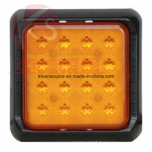 ECE Approved Square LED Turn Light for Heavy Duty Truck and Trailer 2 Year Warranty, Short Delivery Time and Small MOQ