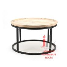 Mesa de café redonda de hierro