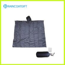 Imperméable 100% Polyester PVC Revêtement Reusable / Pliable Poncho Rpy-026