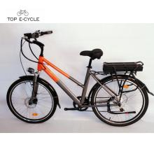 Le CE de TOP / OEM 350w a approuvé vert vélo électrique de ville de 26 pouces en ventes