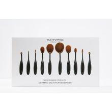 2016 Black Oval Private Label Makeup Brush Set 10PCS