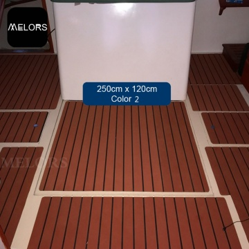 Melors EVA Composite Faux Teak Sheet Yacht Flooring