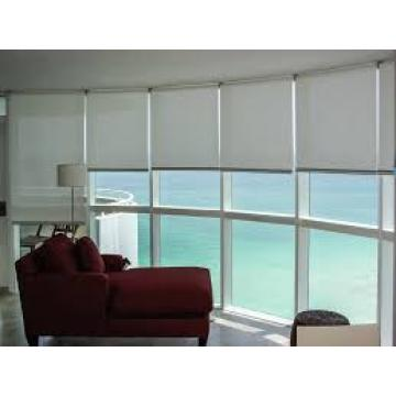 Roller shades for office windows