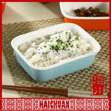 Ceramic color oval bake bowl bread box snack bowl cake bakeware