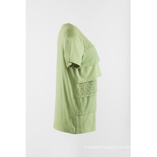Solid knitting short sleeve Tshirt