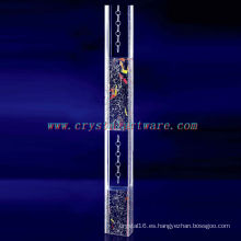 pilar de cristal rectángulo, decoración cristal