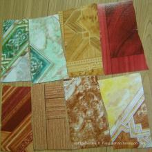 Plancher de PVC bon marché, adhésif de plancher de vinyle, vinyle de plancher en bois d'imitation