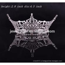 Оптовые головные ювелирные изделия круглая королевская корона для девочек