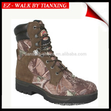 Waterproof hunting boots with leather&camo fabric
